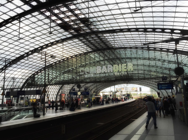 Train station platform in central berlin